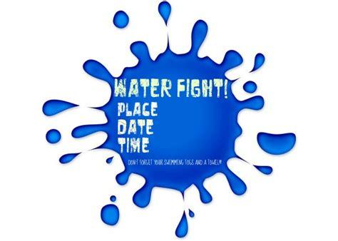 free printable birthday invitations water water fight party ideas yvonnebyattsfamilyfun