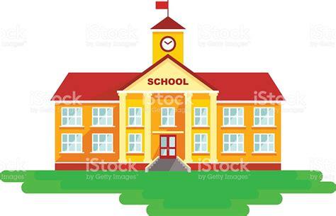 school clipart school building in flat style stock vector 484761738