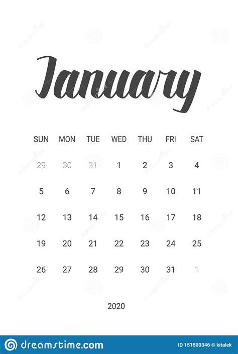 vector calendar  january  stationery design stock vector illustration  january