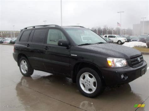 Toyota Highlander Black Black 2004 Toyota Highlander Limited V6 4wd Exterior Photo
