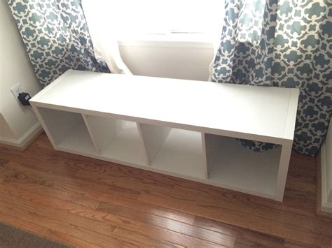 diy storage bench the adorable mess diy ikea kallax storage bench