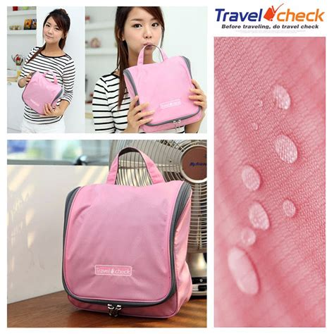 Korean Waterproof Toiletrieskosmetik Organizer Bag Tas Travel Shower jual travel check bag tas mandi korean waterproof travel check premium di lapak archer