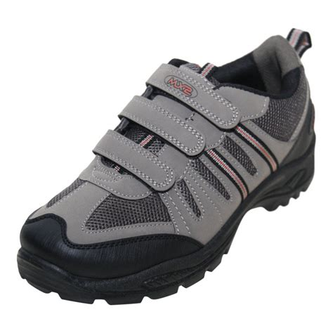 mens boots velcro mx2 mens grey velcro hiking boots trail walking