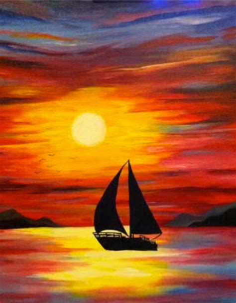 acrylic painting ideas step by step tropical paint julie s waterfront central