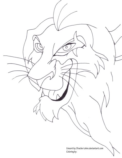 scar coloring p coloring pages