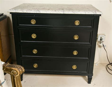 marble top ebonized dresser chest of drawers at 1stdibs