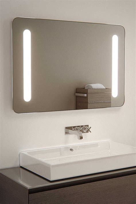 led bathroom mirrors with demister sambar shaver led bathroom illuminated mirror with