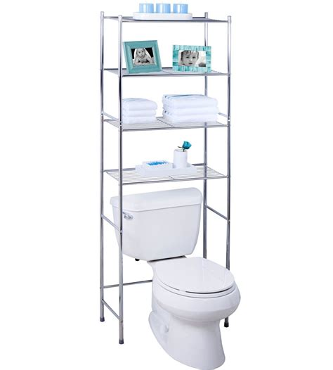 over the toilet 4 tier over toilet storage rack in over the toilet shelving