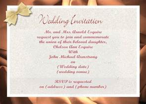 Diy Wedding Invitation Letter Doc 663550 Sle Email For Wedding Invitation To Colleague Wedding Bizdoska