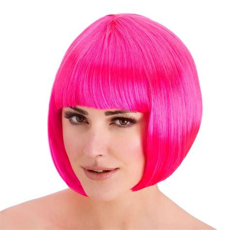 Sale Wig Bob Pink H A59 Wig Bob Warna Premium coloured bob wigs fringed bob wig fancy dress accessory ebay