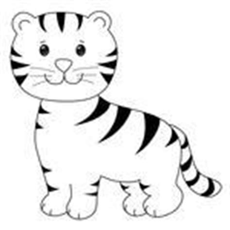 Baby Tiger Outline by Happy Tiger Stock Vector Clipart Me