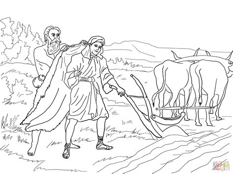 free bible coloring pages elijah elijah chooses elisha coloring coloring