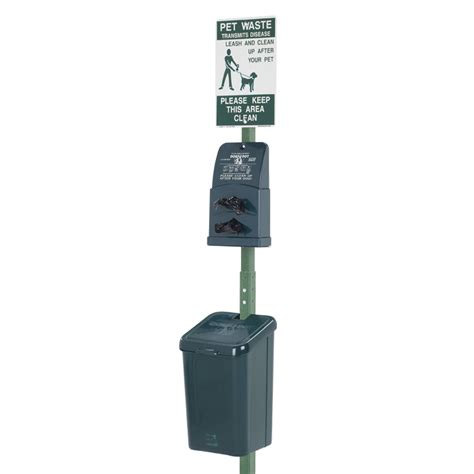 waste station dogipot polyethylene pet waste disposal station park furnishings upbeat