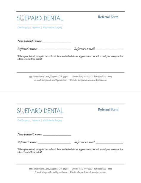 dental referral form template dental referral form pictures to pin on pinsdaddy