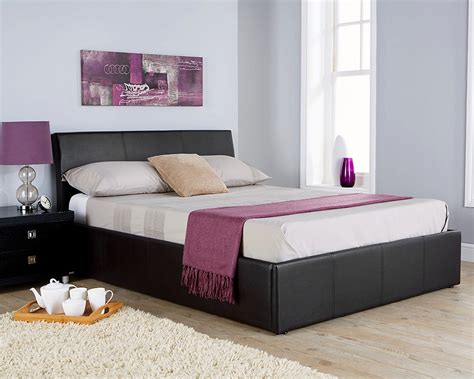 Leather Ottoman Bed Aston Faux Leather Ottoman Bed Frame 2 Colours