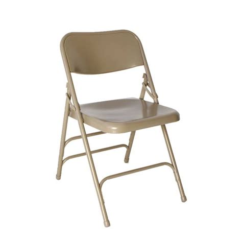 all steel beige folding chair bar restaurant furniture