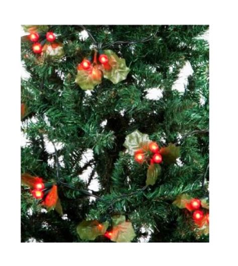 led christmas holly berry lights 60 and berry led tree lights indoor outdoor low voltage ebay
