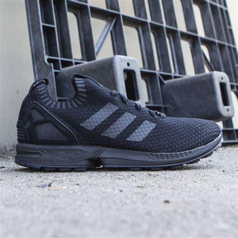 black zx flux adidas men zx flux primeknit black core black