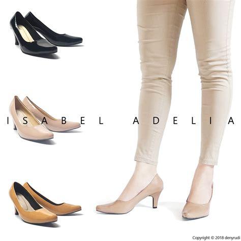 Lmad38 Sepatu Heels Hitam 7 Cm court sepatu pantofel kerja wanita heels 5cm