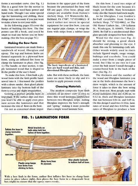 making recurve bow woodarchivist
