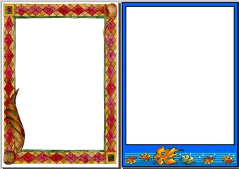 printable poster board borders autumn teaching resources symmetry page borders