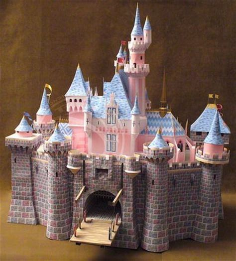 How To Make A Castle Out Of Paper - free printable disney castle with for