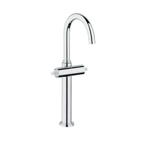 grohe single hole bathroom faucet grohe atrio single hole 2 handle high arc vessel bathroom