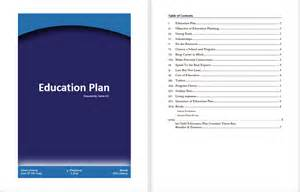 Education Plan Template education plan template microsoft word templates