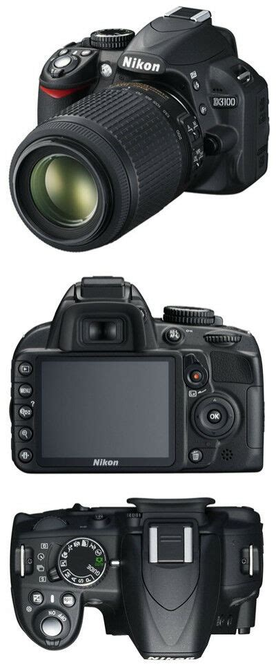 nikon d3100 14 2 mp digital slr black kit w af s dx vr 18 55mm lens 18208254729 ebay