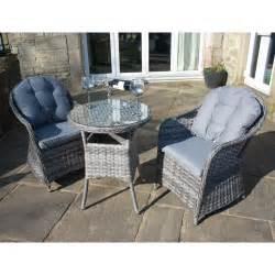 luxury grey rattan outdoor 3 bistro set garden furniture