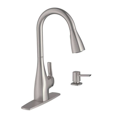 2 hole kitchen faucet moen kiran pullout spray single hole 1 2 kitchen faucet