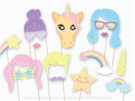 printable unicorn photo booth props unicorn party inspiration birthday parties