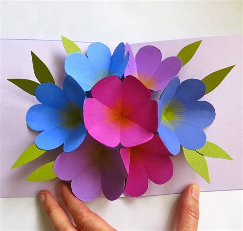 Origami Pop Up Flower - craft maniacs flower pop up card