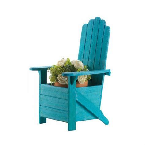Adirondack Chair Planter by Blue Adirondack Chair Planter Diannedecor
