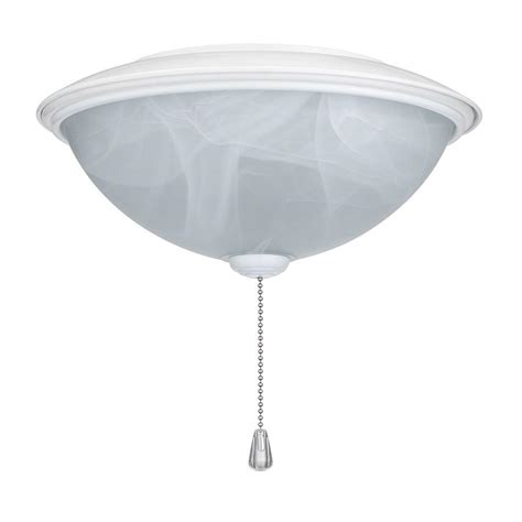 nutone alabaster contemporary bowl glass ceiling fan light