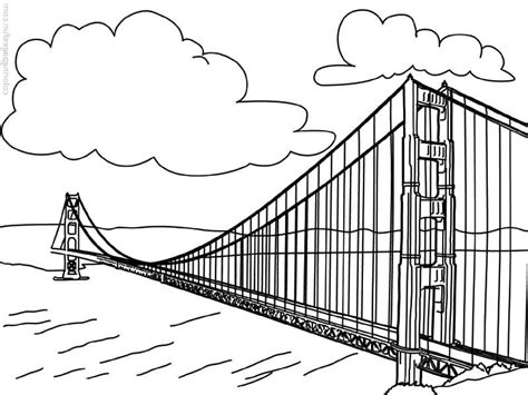 coloring pages of golden state bridge gate worldwonders