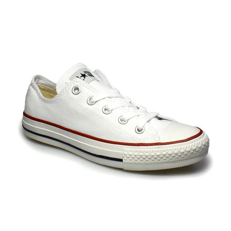 womens all white sneakers converse all lo white canvas trainers sneakers shoes