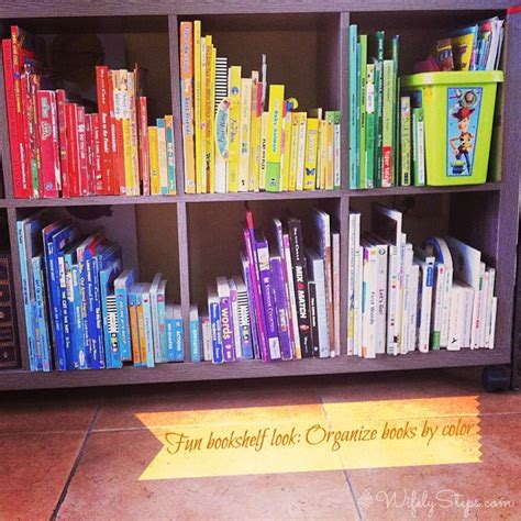 organize books by color wifely steps