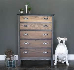 sold antique oak ombre stained chest of drawers