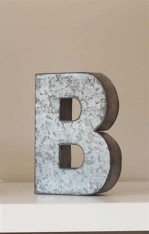 Metal Letters Home Decor | sale large metal letter zinc steel initial home room decor diy signs letter vintage style gray