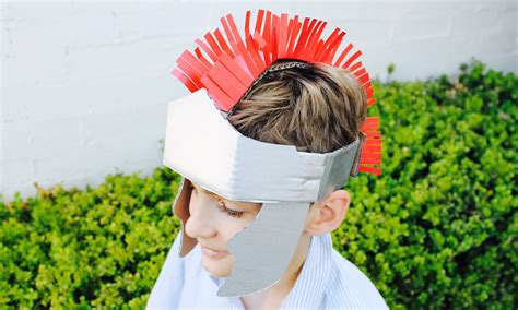 How To Make A Paper Helmet That You Can Wear - easy craft how to make a gladiator helmet