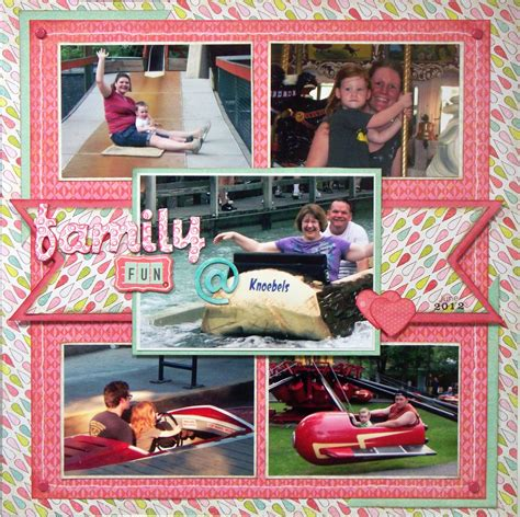 scrapbook layout ideas 5 photos teresa jaye is here to play family fun knoebels