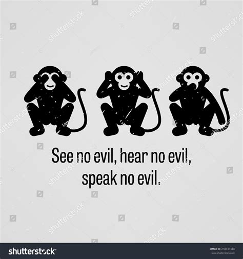 see no evil speak no evil hear no evil tattoo see no evil hear no evil stock vector 250830340