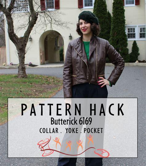 pattern hacker pattern hack butterick 6169 collar yoke and zippered pocket