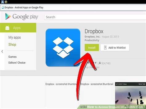 dropbox on mobile 4 ways to access dropbox on a mobile device wikihow