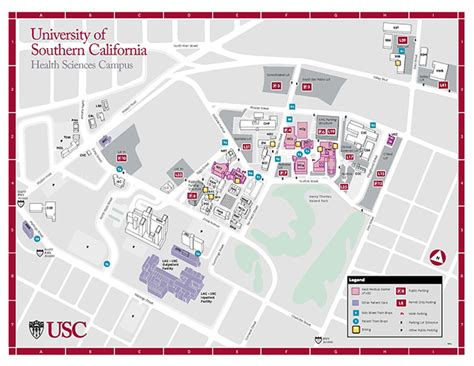 printable map of usc cus lac usc center cus map pictures to pin on