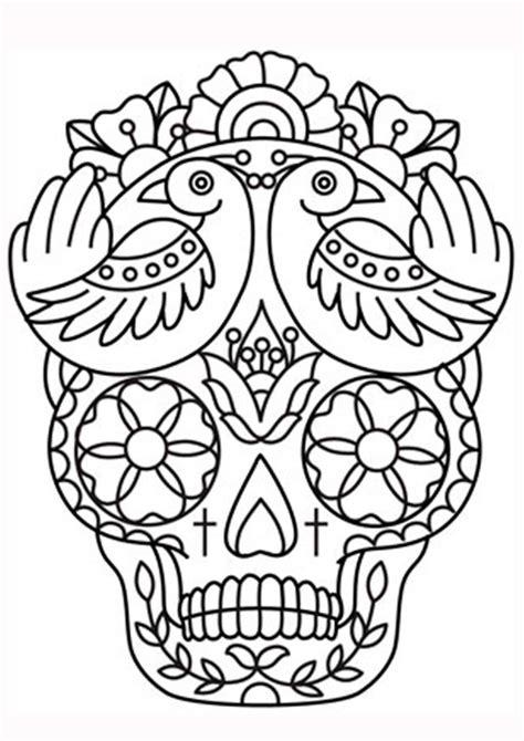 imagenes de calaveras bonitas para colorear 20 padr 237 simos mandalas de d 237 a de muertos para imprimir y