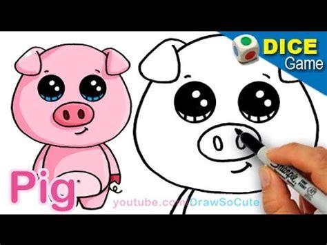 draw cartoon pig cute easy step step
