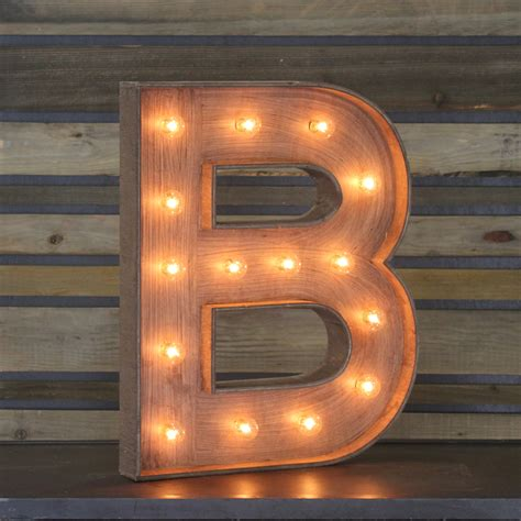 Letter S Home Decor by Edison Marquee Letter Quot B Quot Town Amp Country Event Rentals