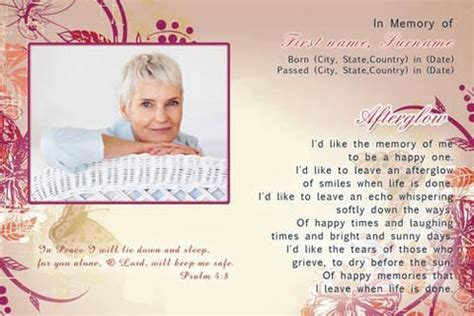 funeral holy card template 25 best ideas about memorial cards for funeral on